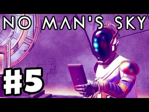 No Man's Sky - Gameplay Walkthrough Part 5 - Priest Entity Nada! First Atlas Pass! (PS4)