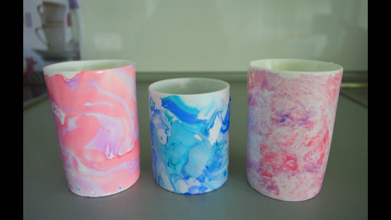 C mo decorar tazas con esmalte de u as youtube for Como decorar unas