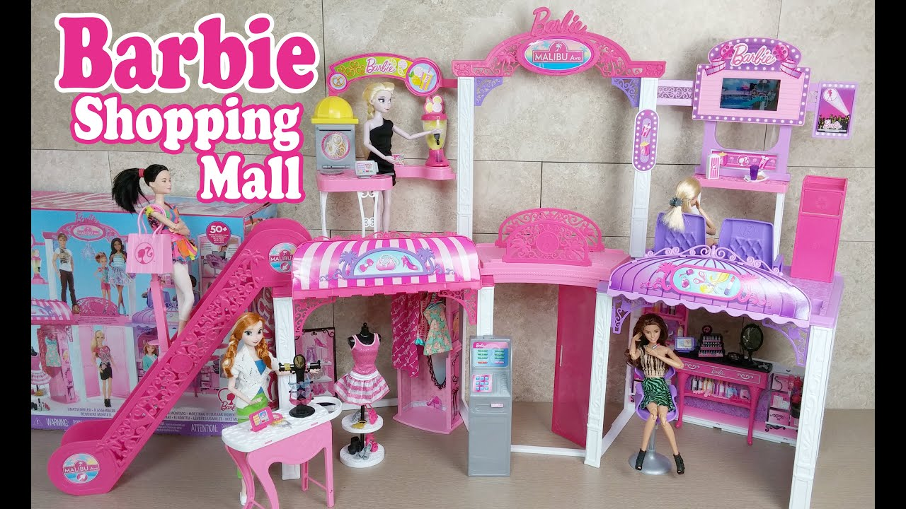 BARBIE Doll Malibu Avenue Mall Playset Unboxing Review