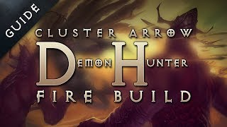 diablo 3 reaper of souls best demon hunter build skills gear cluster arrow build guide