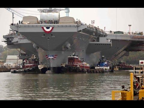 США спущен на воду Авианосец Джеральд Форд Самый дорогой в истории