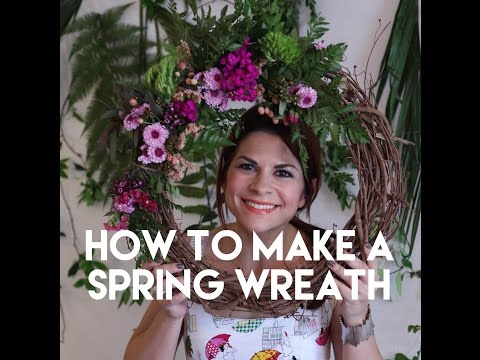 Spring Flower Wreath for Room Decor - The Flower Chef for Teens