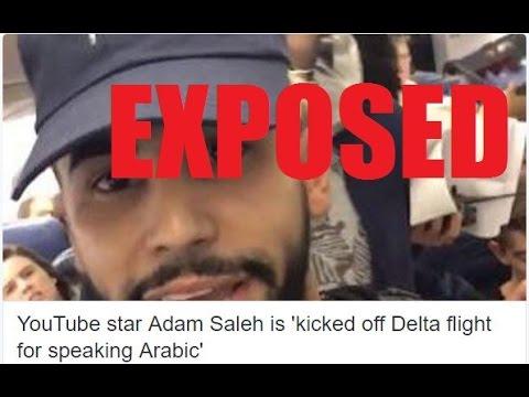YouTube Star Adam Saleh Kicked Off Delta Flight Exposed