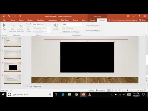 How to Embed a YouTube Video into PowerPoint PC Tablet