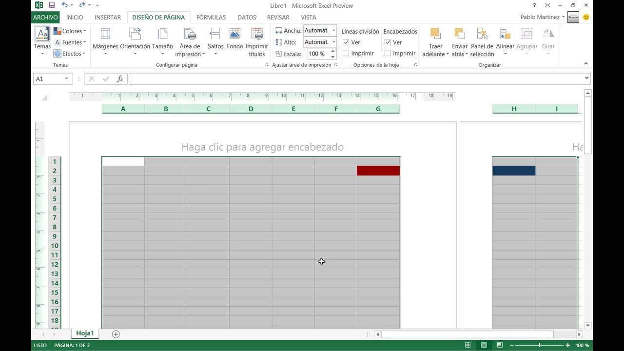 Excel 2013 - Ajustar el área de impresión - YouTube