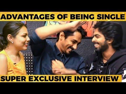 Anchor-ஐ மரணமாய் கலாய்த்த Siddharth & GV Prakash - Super Fun Filled Interview
