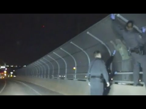 Police Bodycam Shows Nevada Highway Trooper Saving Women Jumping off Overpass