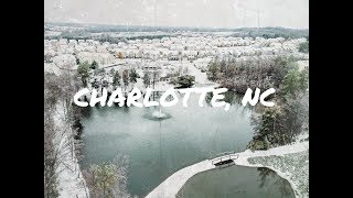 Charlotte North Carolina Snow Storm December 9th 2018 (Winter Storm Diego) Drone Aerial Videography