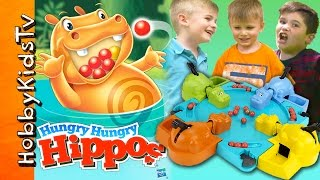 hungry hippo hobbyfamily game night surprise toy candy and play time hobbykidstv