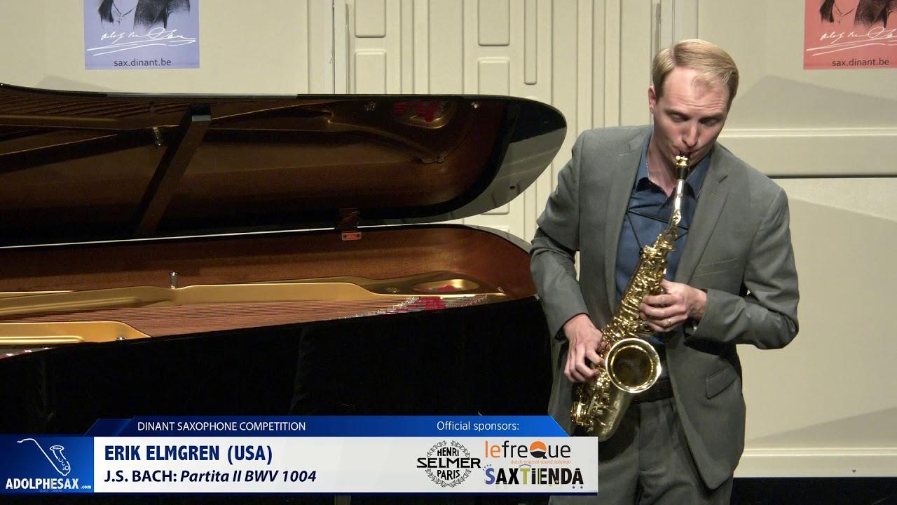 Erik Elmgren (USA) - Partita II by J.S.Bach (Dinant 2019)