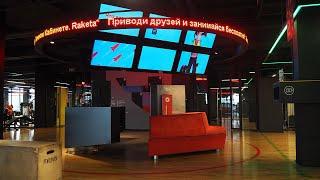 "Видеовывеска для сети фитнес-клуба ""Ракета"", ТЦ ""Mari"", г.Москва, Р10"