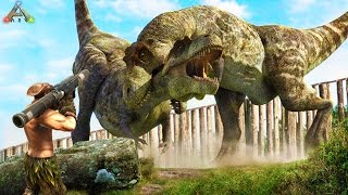 ARK SURVIVAL: T-REX WAR - ARK SCORCHED EARTH TAMING 2 T-REXS (ARK SURVIVAL FUNNY MOMENTS)
