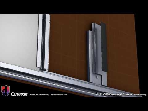 Cladiators Calor Rainscreen Wall Attachment System
