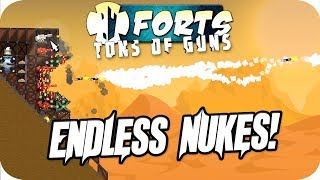 Forts Multiplayer 4v4 Gameplay Endless Nukes Barrage