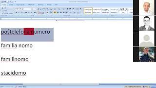 Corso di esperanto per italofoni. Lezione 6 (parte 1). 23/04/2020.