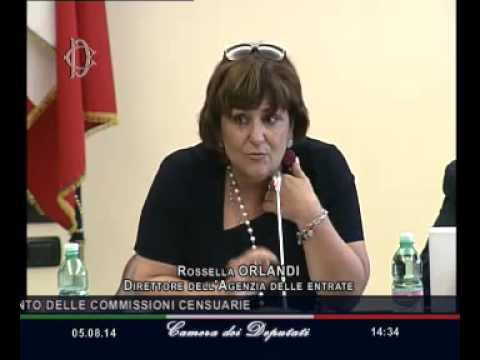 Roma - Audizione Orlandi, Direttore Agenzia Entrate (05.08.14)