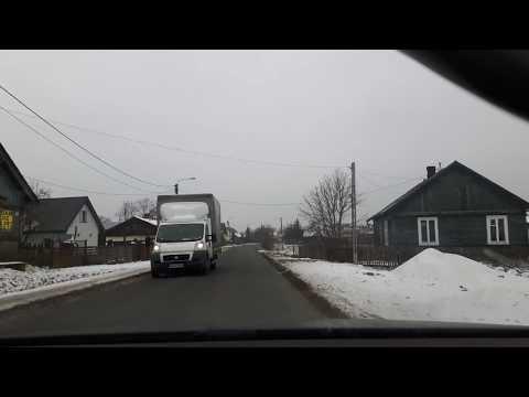 Driving in Polish countryside in winter / Conducir en el campo polaco en invierno