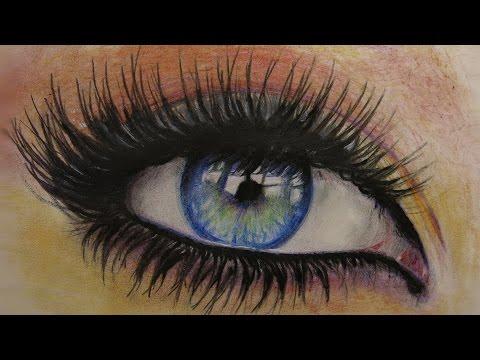 Как нарисовать глаз цветными карандашами. How to Draw a Eye