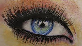 Как нарисовать глаз цветными карандашами. How to Draw a Eye(В этом видео я рисую глаз используя цветные карандаши это легко повторить попробуйте и у вас получится..., 2015-02-21T14:25:45.000Z)