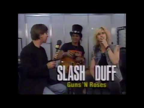 Classic Guns N Roses Interview Featuring Slash and Duff McKagan Rock In Rio 2 1991