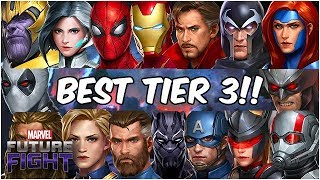BEST First Tier 3? Next Tier 3? ALL 16 TIER 3 RANKED! - Marvel Future Fight
