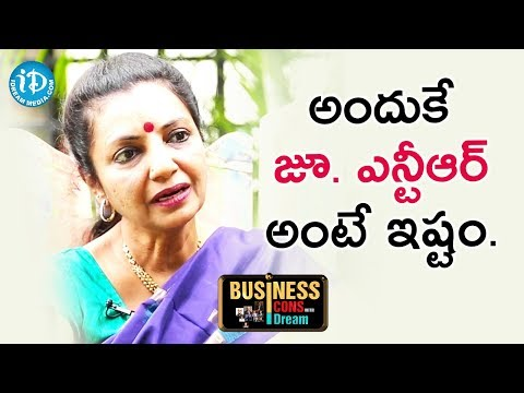 This Is The Reason I like Jr. NTR - Sailaja Suman || Business Icons With iDream
