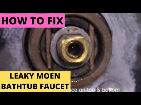 fix leaky moen bathtub faucet free replacement cartridge diy youtube
