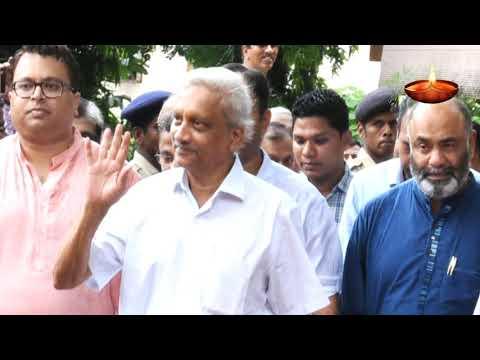 Ailing Goa CM Manohar Parrikar extends Diwali greetings