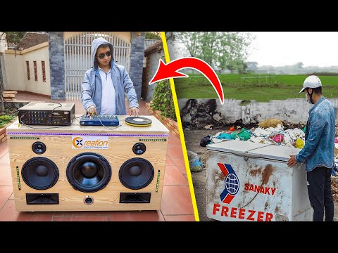 Recycle Chest Freezer from landfill into Giant Speaker Syste