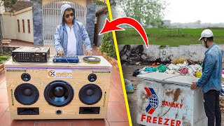 Recycle Chest Freezer from landfill into Giant Speaker System
