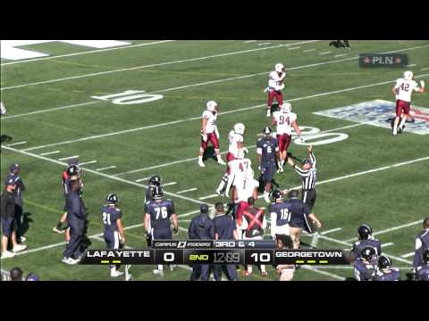 Georgetown Football Vs. Lafayette Highlights - 10/10/15