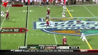 Teddy Bridgewater (QB Louisville) vs Miami, 2013 Russell Athletic Bowl