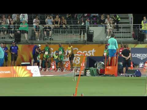 100m Final Akani Simbine 10.03 +0.8 Gold Coast 2018