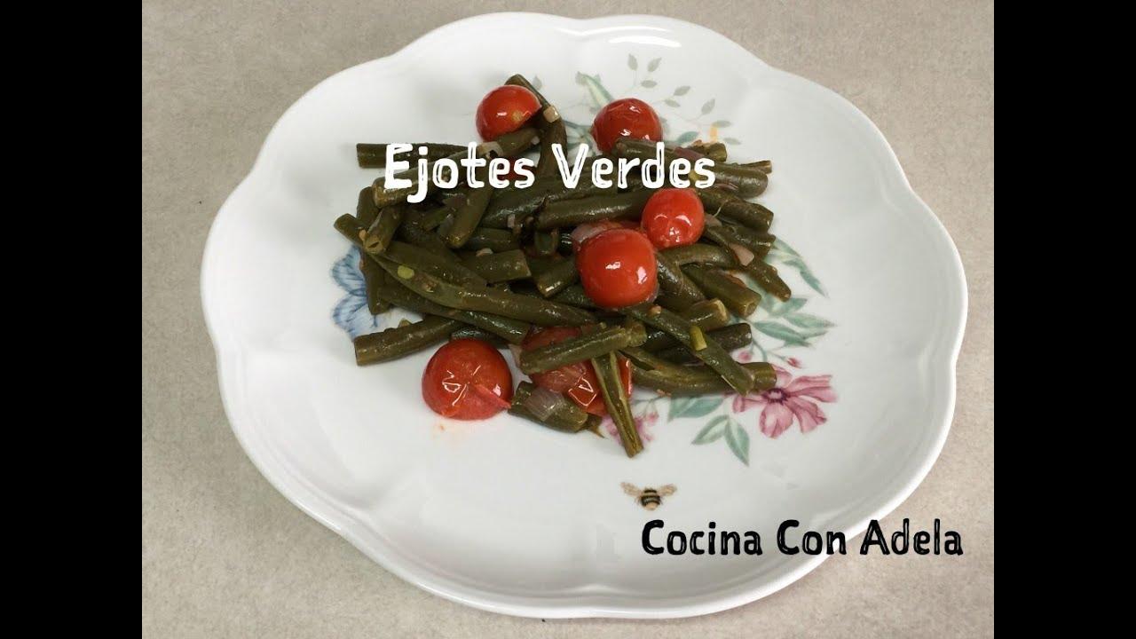 Como cocinar unos ejotes verdes frijoles verdes - Como cocinar judias verdes frescas ...