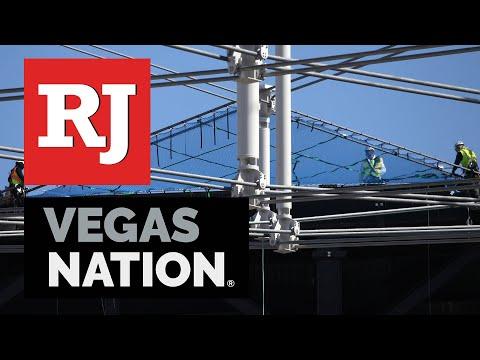 Allegiant Stadium Roof Update, Safety Net Install