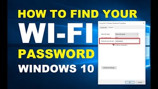 How to Find your WiFi Password on Windows 10 PC or Laptop | Easily