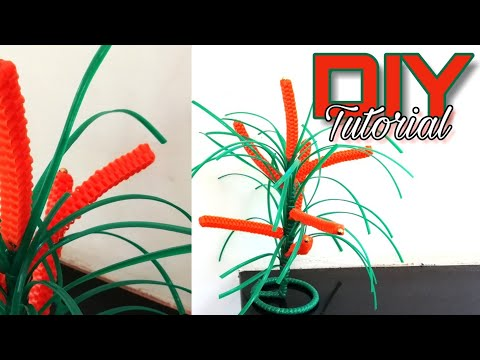DIY Plastic Wire Craft Simple Tutorial   Craft India   Subscribe for more videos..