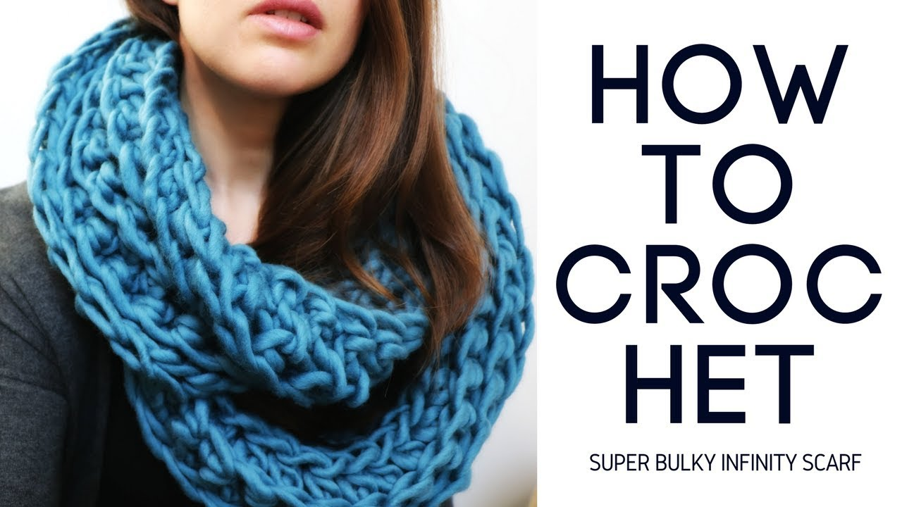 Super Bulky Ribbed Infinity Scarf Youtube