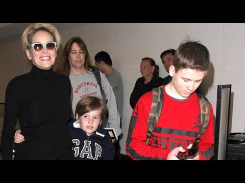 Sharon Stone And Her Boys Bail On LA