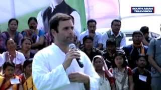 Rahul Gandhi interacts with Assam people in English, no one understands