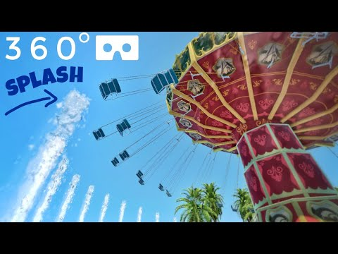 VR 360° Water Wave Swing Carousel flat ride POV rollercoaster 360 도 롤러코스터 ジェットコースター