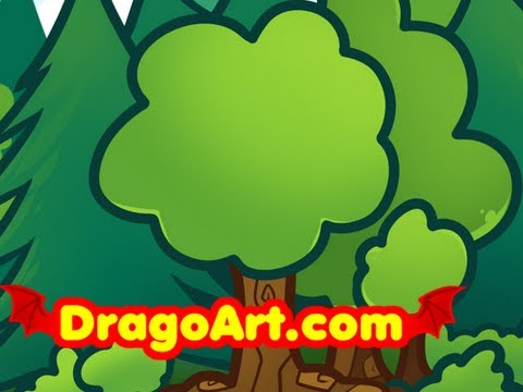How To Draw Trees For Kids Step By