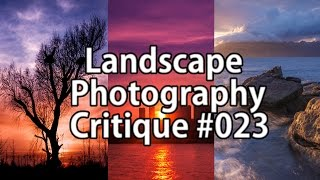 Landscape Photography Critique #023 - Panoramas, Seascapes And A Weird Crow..