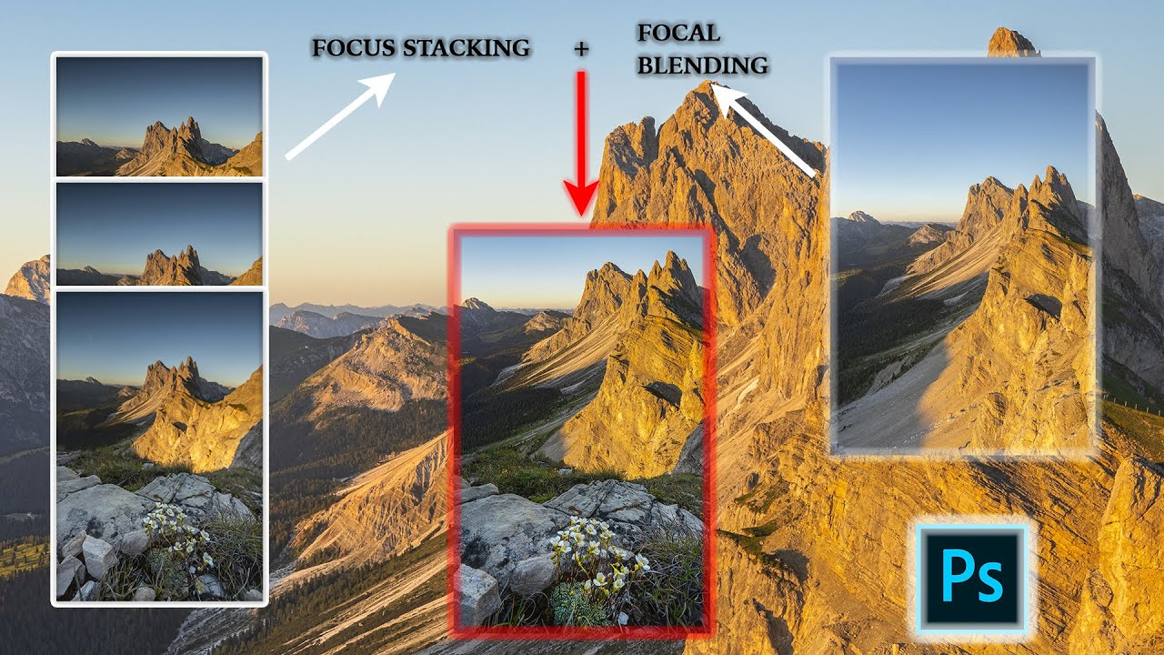 TUTORIAL - Focus Stacking + Focal Blending in PHOTOSHOP