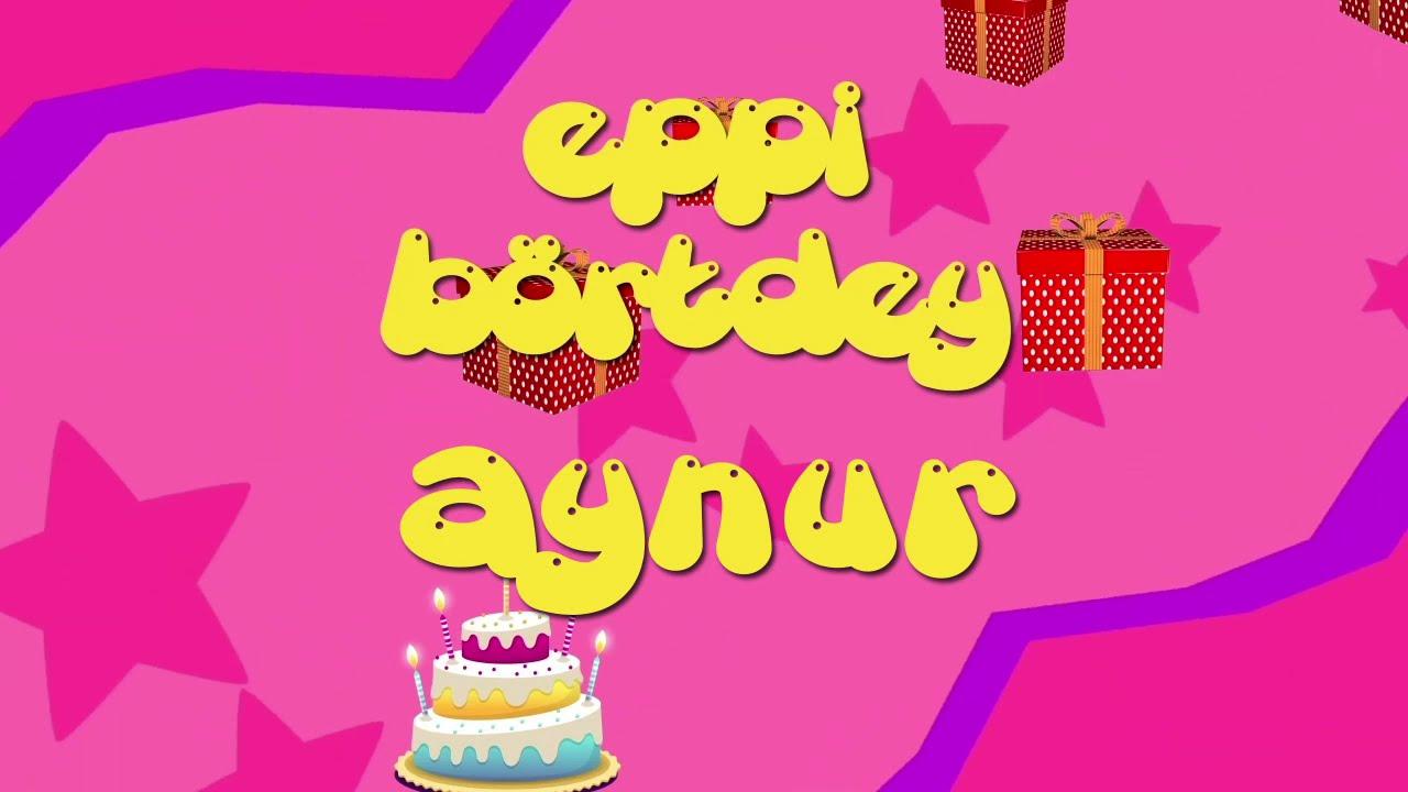 İyi ki doğdun AYNUR - İsme Özel Roman Havası Doğum Günü Şarkısı (FULL VERSİYON) (REKLAMSIZ)