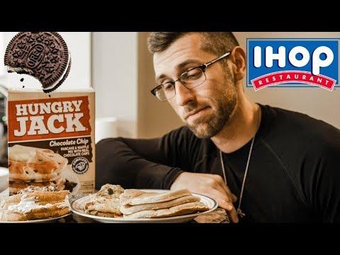 PANCAKE PARTY | IHOP Vs. Boxed Pancake Mix