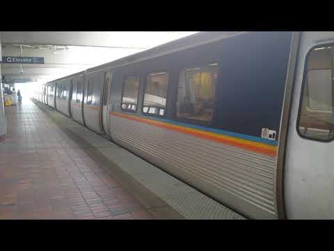 MARTA Doraeville Advanced Train Departing from Airport Station.