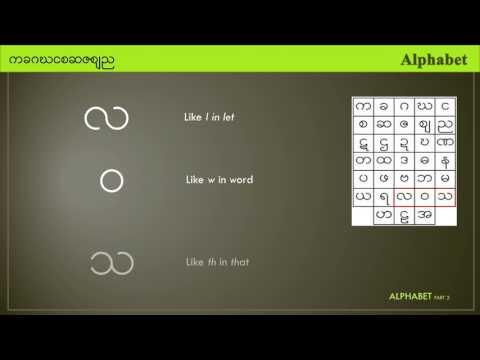 Myanmar Alphabet 2