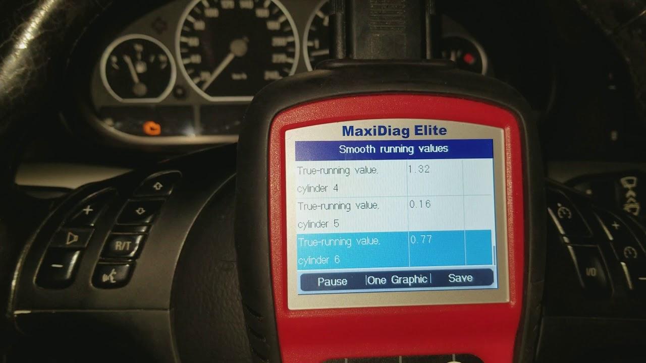 E46 BMW misfire CEL, Smooth Running Values Diagnostics