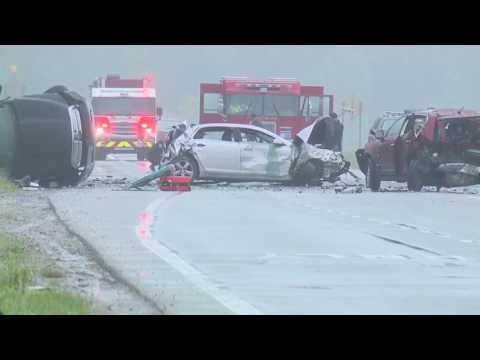 Massive crash closes northbound M-53 at 30 Mile in Washington Township